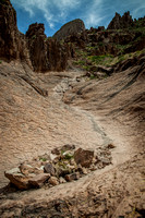 """Flatiron Flood Channel"" (Flatiron Trail, Superstition Mountain, Tonto National Forest, Arizona)"