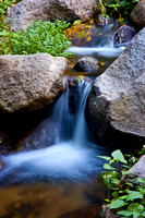 Waterfalls in stream, Monrovia Canyon