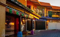 Closed shops in early morning, San Miguel de Cozumel, Quintana Roo
