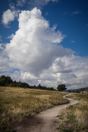 Eagle Pass Trail, Spruce Mountain, storm