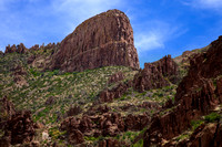"""Under Flatiron"" (Flatiron plateau, Superstition Mountain, Tonto National Forest, Arizona)"